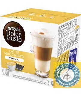Solubili Nescafè cialde capsule compatibili Dolce Gusto latte macchiato vaniglia