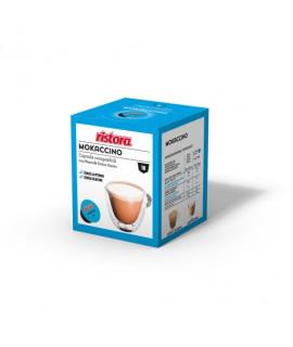 Solubili Ristora cialde capsule compatibili Dolce Gusto Mokaccino senza lattosio