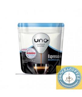 Caffè Kimbo capsule Uno espresso system decaffeinato astucci da 16pz.